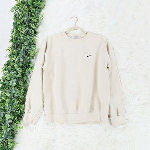 Nike Cream Ivory Logo Pullover Sweatshirt S